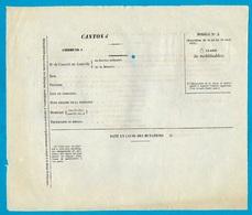 Bulletin Individuel Des Citoyens Mobilisables (pour Exécution De La Loi De 1832) * Armée Militaria Mobilisation - Wetten & Decreten