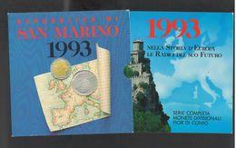 San Marino 1993 Serie Divisionale 10 Monete FDC - San Marino