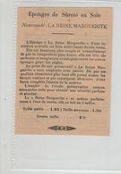 Eponges De Sûreté En Soie La Reine Marguerite Préservatif  1913 - Werbung