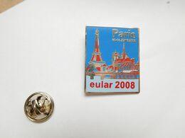 Superbe Pin's En EGF , Médical , Congrés Eular 2008 , Fibromyalgie , Paris Tour Eiffel , Notre Dame - Médical