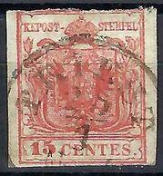 ITALIE Lombardo-Vénétie 1850 :  Le Y&T 3, Obl. CAD Triest - Lombardo-Veneto