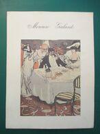 """MENU ILLUSTRE Des Années 30. Restaurant """" MERCURE GALANT """"  Rue Des Petits Champs. PARIS 1er. - Menükarten"""