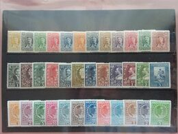 MONTENEGRO 1907/10 - Principe Re Nicola - Nn. 76/87 + 88/99 + 100/111 Nuovi * (1 Valore Senza Gomma) Doppia Linguella - Montenegro