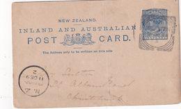 INOUVELLE-ZELANDE 1893     ENTIER POSTAL/GANZSACHE/POSTAL STATIONARY CARTE DE WELLINGTON - Briefe U. Dokumente