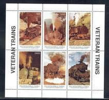 Tuva 1997 Veteren Trains Sheetlet Unmounted Mint - Touva