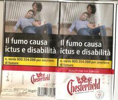 CHESTERFIELD TABACCO PER SIGARETTA ITALY  SIGARETTE - Boites à Tabac Vides