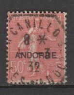 ANDORRA C.FRANCES Nº 15 SELLO USADO CON UN EXPLENDICO MATASELLOS (c.c) - Andorra Francese