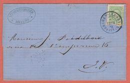 België Brief Zonder Inhoud  DC Berchem-Lez-Anvers 1875 - 1869-1883 Leopold II