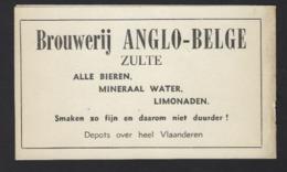 RECLAME * BROUWERIJ ANGLO BELGE * BANK SOCIETE GENERALE * BRUYBOOGHE S KOFFIE * DE NIEUWE GIDS * 15.5 X 9.5 CM - Other Collections