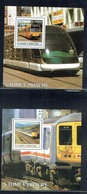 St. Thomas & Prince 2003 Railways Set Of  10 MS Unmounted Mint - Sao Tome And Principe