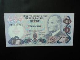 TURQUIE : 1000 LIRA   L.1970     P 191      SPL * - Turquie