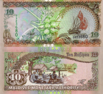 MALDIVES, 10 Rufiyaa, 1998, P19b, UNC - Maldives