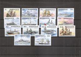 Barbades - Bateaux ( 889/902 XXX -MNH) - Barbados (1966-...)