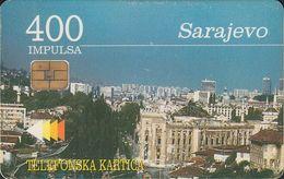 Bosnien Chip Nr.05 - Sarajevo - View - 400 Imp. - Bosnie