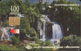 Bosnien Chip Nr.09 - Wasserfall - Waterfall - 100 Imp. - Bosnie
