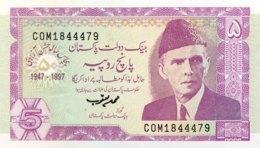 Pakistan 5 Rupees, P-44 (1997) - UNC - Pakistan