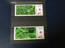 2 Timbres Neufs Personnalisés (photo D'insecte) émis Par Le Cercle Philatélique De Viroinval - Francobolli Personalizzati