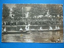 77. LES RIGAULT  ??  RARE CARTE PHOTO 1921 JEUX NAUTIQUES  FETES JOUTES - Altri Comuni