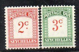 XP4082 - SEYCHELLES , Segnatasse N. 9/10  *** - Seychelles (...-1976)
