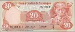 TWN - NICARAGUA 135 - 20 Cordobas 16.8.1979 Serie E UNC - Nicaragua