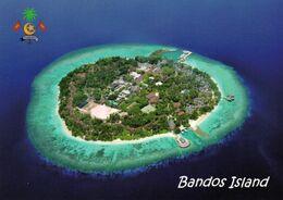 1 AK Malediven / Maldives * Blick Auf Die Insel Bandos - Sie Liegt Im Nord-Malé-Atoll - Luftbildaufnahme * - Maldive