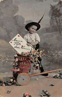 Postcard Bonne Fete Vive Louis, Roses, Flowers, Young Boy, Child - Greetings From...