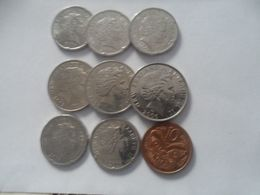 New Zealand Coin Lot -10/ 20 /50 CENT - 9 GREAT COINS - New Zealand