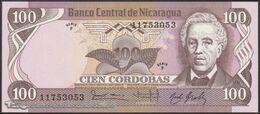 TWN - NICARAGUA 141 - 100 Cordobas 6.8.1984 Serie F UNC - Nicaragua