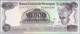 TWN - NICARAGUA 148 - 50.000/50 Cordobas 1987 Provisional Overprint Issue - Serie F UNC - Nicaragua