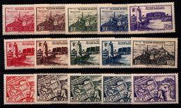 FEZZAN - N° 28/42** - 1946- Territoire Militaire Fezzan-Gadamès - Série Complète 15 Valeurs. - Fezzan (1943-1951)