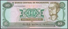 TWN - NICARAGUA 151 - 10 Cordobas 1985 (1988) Prefix FB UNC - Nicaragua