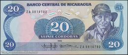 TWN - NICARAGUA 152 - 20 Cordobas 1985 (1988) Replacement - Prefix ZA UNC - Nicaragua