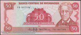 TWN - NICARAGUA 153 - 50 Cordobas 1985 (1988) Prefix FB UNC - Nicaragua