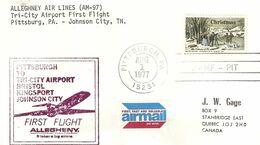 Premier Vol Pittsburg/Johnson City 1° Août 1977 - Avions
