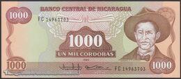 TWN - NICARAGUA 156b - 1000 1.000 Cordobas 1985 (1988) Prefix FC UNC - Nicaragua