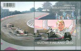 Finland 1999 - Formula 1 - World Champion 1998 Mika Hakkinen, Bl. 20, MNH** - Cars