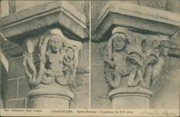 43 CHANTEUGES / Eglise Romane - Chapiteaux / - France