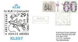 Premier Vol Amsterdam/Addis Abeba Par KLM (octobre 1995) - Avions