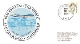 Premier Vol San Francisco/Amsterdam Par KLM (31 Mars 1993) - Avions