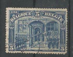 OCB  147 Gestempeld  5 FRANKEN - 1915-1920 Albert I