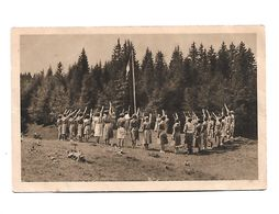 Camp D'Eclaireuses Le Salut Au Drapeau Animées - Pfadfinder-Bewegung