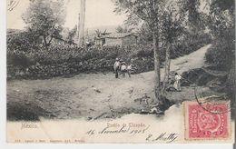 MEXIQUE - MEXICO. CPA Voyagée Puebla De Tizapan (bords Légèrement Marqués Voir Scan) - Mexico