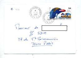 Lettre Cachet Alfred Faure Crozet Sur Oiseau Gorfou - Terres Australes Et Antarctiques Françaises (TAAF)