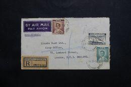SIAM - Enveloppe Commerciale En Recommandé De Bangkok Pour Londres En 1954 - L 65593 - Siam