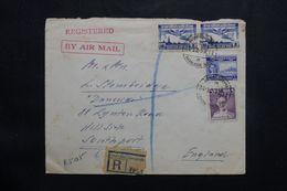 SIAM - Enveloppe Commerciale En Recommandé De Bangkok Pour Southport En 1953 - L 65594 - Siam