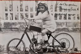 Carte Photo Angoulême 16 Charente L'As Charentais Bourabier Moto Cycle Vélomoteur - Angouleme