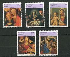 Haïti ** N° 874 à 878 - Noël. Tableaux - Navidad