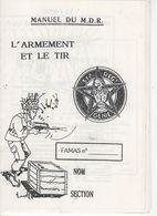 1860 Manuel De MDR Militaire Du Rang 31e Régiment Génie L'armement Et Le Tir FAMAS - French