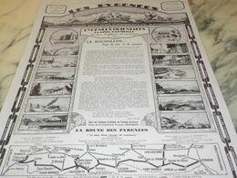 ANCIENNE PUBLICITE  LES PYRENEES ORIENTALES LE ROUSSILLON 1927 - Advertising