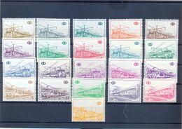 Nr. TR378/398   MNH ** Postgaaf Mix Papier Oa 393A - Railway